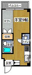 パームサイドビラ[702号号室]の間取り
