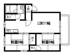メイプル岩倉[2階]の間取り