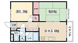 アパートメントリセエンヌ[205号室]の間取り