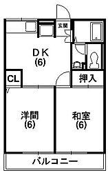 リヒターグランツ[1階]の間取り