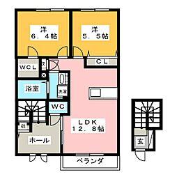 アリエッタ B棟[2階]の間取り