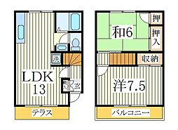 ケッフェル91B[1階]の間取り