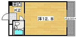 パレ楠葉[3階]の間取り