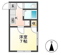 プチメゾンMNII[3階]の間取り