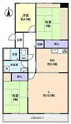 八千代ゆりのき台プラザシティ7号棟[2階]の間取り