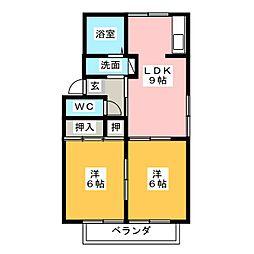 ファミール堀部[1階]の間取り