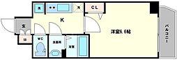 プレサンスTHE TENNOUJI 逢阪トゥルー 2階1Kの間取り