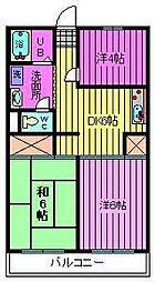 埼玉県川口市小谷場の賃貸マンションの間取り