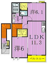 アニメートIII[2階]の間取り