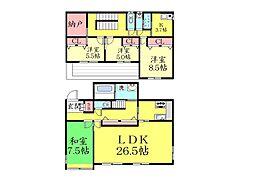 [一戸建] 兵庫県神戸市東灘区鴨子ケ原2丁目 の賃貸【/】の間取り