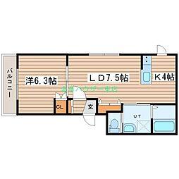 LUCY HOUSE ルーシーハウス 4階1LDKの間取り