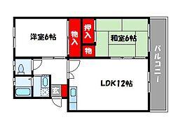 ロイヤルコ−ポ堺[4階]の間取り
