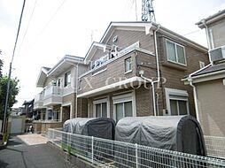 東京都国立市谷保の賃貸アパートの外観