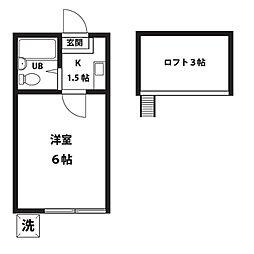 YKマンション[204号室]の間取り