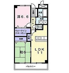 戸塚区上品濃 パークアベニュー101号室[1階]の間取り