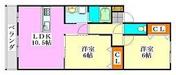 グローバルヴィラ弐番館[105号室]の間取り