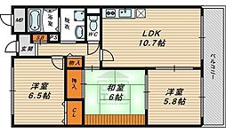 MT高夢 4階3LDKの間取り