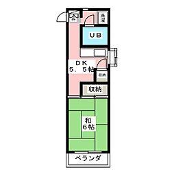 芳賀興産ビル[2階]の間取り