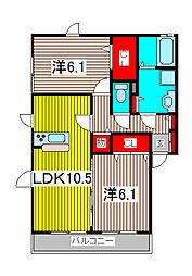 (仮)大谷口D−room A棟[2階]の間取り