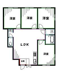 Ricca 武蔵小金井 1階4LDKの間取り