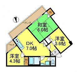 第二八千代ビル[3階]の間取り