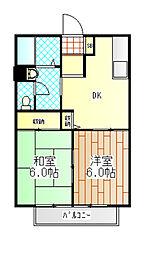 神奈川県相模原市南区東大沼3の賃貸アパートの間取り