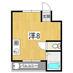 フォレスト鴨戸[2階]の間取り
