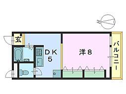 さやか杉ヶ町マンション[205号室]の間取り
