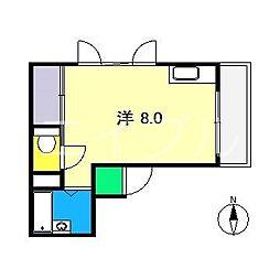 高野ハイツ[3階]の間取り