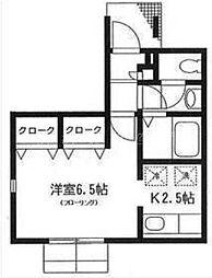神奈川県横浜市西区宮崎町の賃貸アパートの間取り