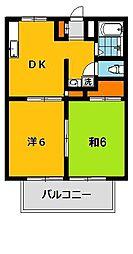 中村ハイツA[2階]の間取り