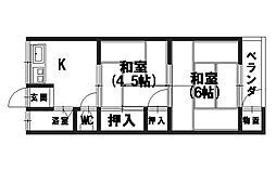 石井マンション[305号室]の間取り