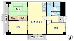 Kプラザ[3階]の間取り