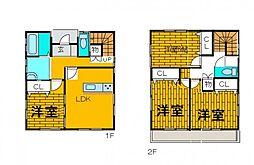 [一戸建] 東京都町田市木曽東3丁目 の賃貸【/】の間取り