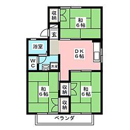 セジュール井上C棟[2階]の間取り