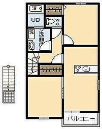 ソレイユフラン[2階]の間取り
