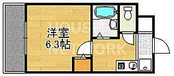 ハイポジション銀閣寺[307号室号室]の間取り