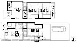 [一戸建] 兵庫県川西市久代4丁目 の賃貸【兵庫県 / 川西市】の間取り