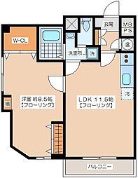 代田ウエスト[2階]の間取り