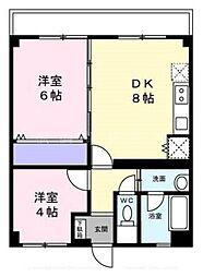 北井マンション[3階]の間取り