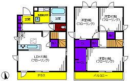 [一戸建] 東京都国立市富士見台2丁目 の賃貸【/】の間取り