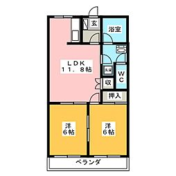 パストラーレ[3階]の間取り