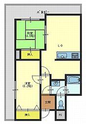 グリーンコートマンション[401号室]の間取り