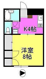 メゾーンK2[103号室]の間取り