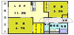 つばさハイムA[2階]の間取り