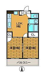 メゾン・ド・シオン[3階]の間取り