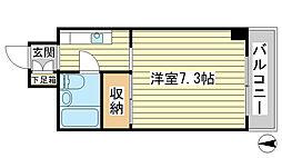 O−5マンション[303号室]の間取り