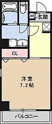 ルネッサンス・ドゥ[201号室号室]の間取り