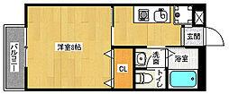 京都府京都市伏見区醍醐御陵西裏町の賃貸アパートの間取り