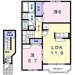 グランヴェール21 E[2階]の間取り